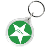 Round Keyring - Clear