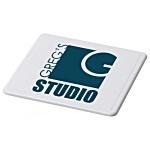 Promotional Coaster - White/Black - Square