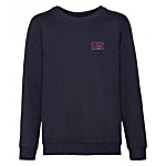 Kids Fruit of the Loom Raglan Sweatshirt