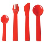 Plastic 4pc Cutlery Set