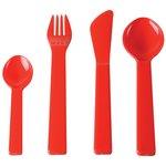 Plastic 4pc Cutlery Set