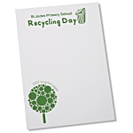 A6 Recycled 25 Sheet Notepad - Green Design 1