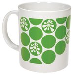 Cambridge Mug - White - Polka Dot Design