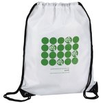 Economy Drawstring Bag - Polka Dot Design