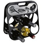 Wine Set with Foldable Bottle Rack