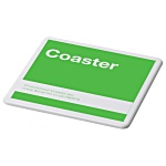 Promotional White Coaster - Square - Colours Design