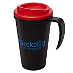 Americano Grande Travel Mug - Black/Coloured