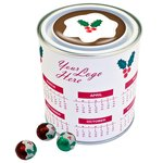 Calendar Desk Tidy Tin - Christmas Chocolate Balls