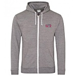 AWDis Heather Zipped Hoodie - Embroidered