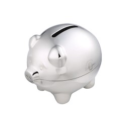 View a larger, more detailed picture of the DISC Chrome Piggy Bank