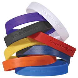 View a larger, more detailed picture of the Silicone Wristband