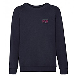 View a larger, more detailed picture of the Kids Fruit of the Loom Raglan Sweatshirt