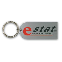 View a larger, more detailed picture of the Embossed Steel Keyring - Large