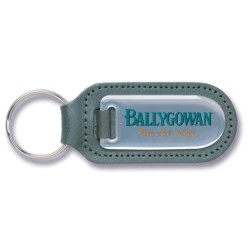View a larger, more detailed picture of the Steel & Leather Keyring - Large