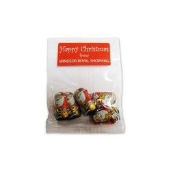 View a larger, more detailed picture of the Bag of 5 Chocolate Santas