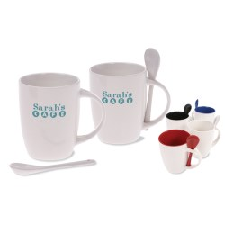 View a larger, more detailed picture of the Mug & Spoon - White
