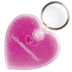 View a larger, more detailed picture of the Aqua Keyfob - Heart