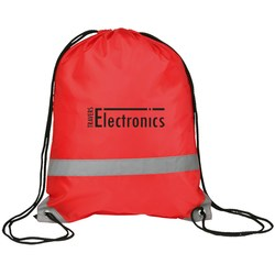 View a larger, more detailed picture of the Reflective Drawstring Bag