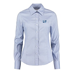View a larger, more detailed picture of the Kustom Kit Lady Fit Corporate Oxford Shirt - Long Sleeve