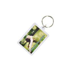 View a larger, more detailed picture of the Recycled Rectangular Keyring - Full Colour