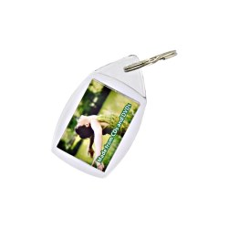View a larger, more detailed picture of the DISC Recycled Plastic Keyring - Full Colour