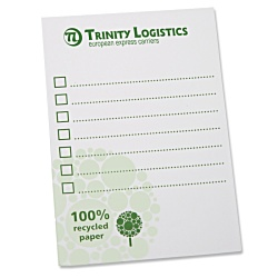 View a larger, more detailed picture of the A6 Recycled 25 Sheet Deskpad - Green Design 3