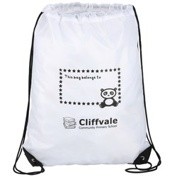 View a larger, more detailed picture of the Economy Drawstring Bag - I belong to