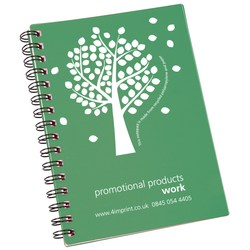 View a larger, more detailed picture of the A5 Recycled Notebook - Tree Design