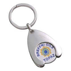 View a larger, more detailed picture of the Wishbone Trolley Coin Keyring