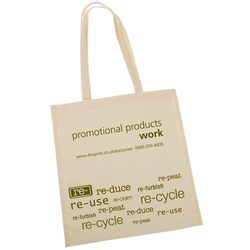 View a larger, more detailed picture of the 100 Cotton Promotional Shopper - Re use Design