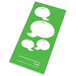 View a larger, more detailed picture of the Slimline 50 Sheet Notepad - Caption Design
