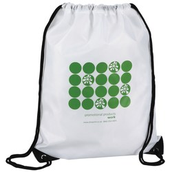 View a larger, more detailed picture of the Drawstring Bag - Polka Dot Design - 2 Day