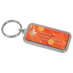 View a larger, more detailed picture of the DISC Zante Rectangular Keyring