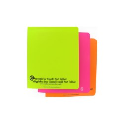 View a larger, more detailed picture of the Recycled A5 Polypropylene Ring Binder