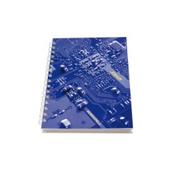 View a larger, more detailed picture of the A5 Personalised Wire Notepad - Blue Circuit Board