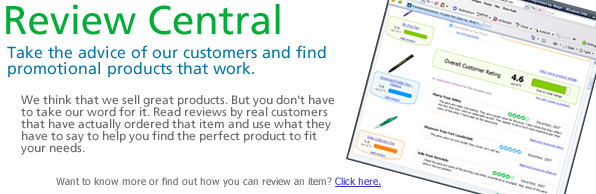 Take the advice of our customers and find promotional products that work